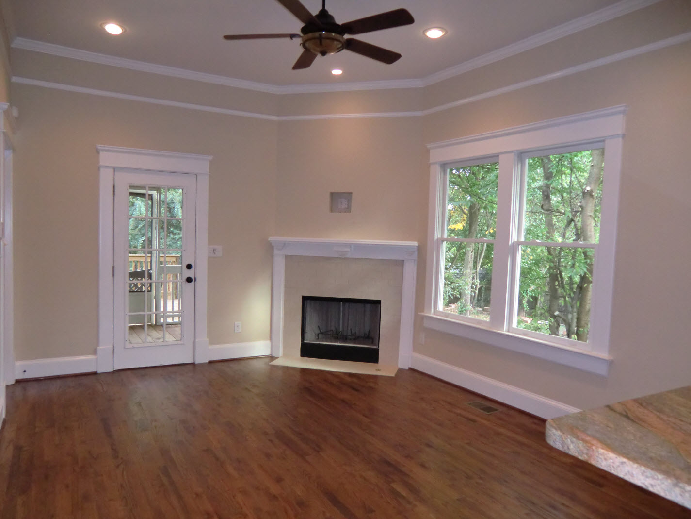 Family room addition off kitchen with 3rd fireplace for Great room addition off kitchen