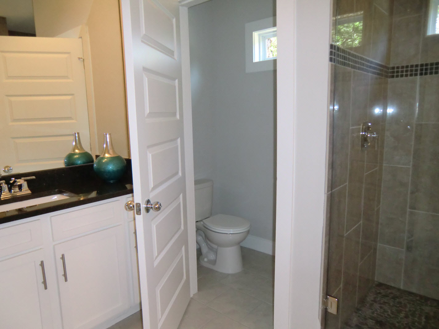 Master bath separate water closet vision pointe homes Bathroom designs with separate tub and shower