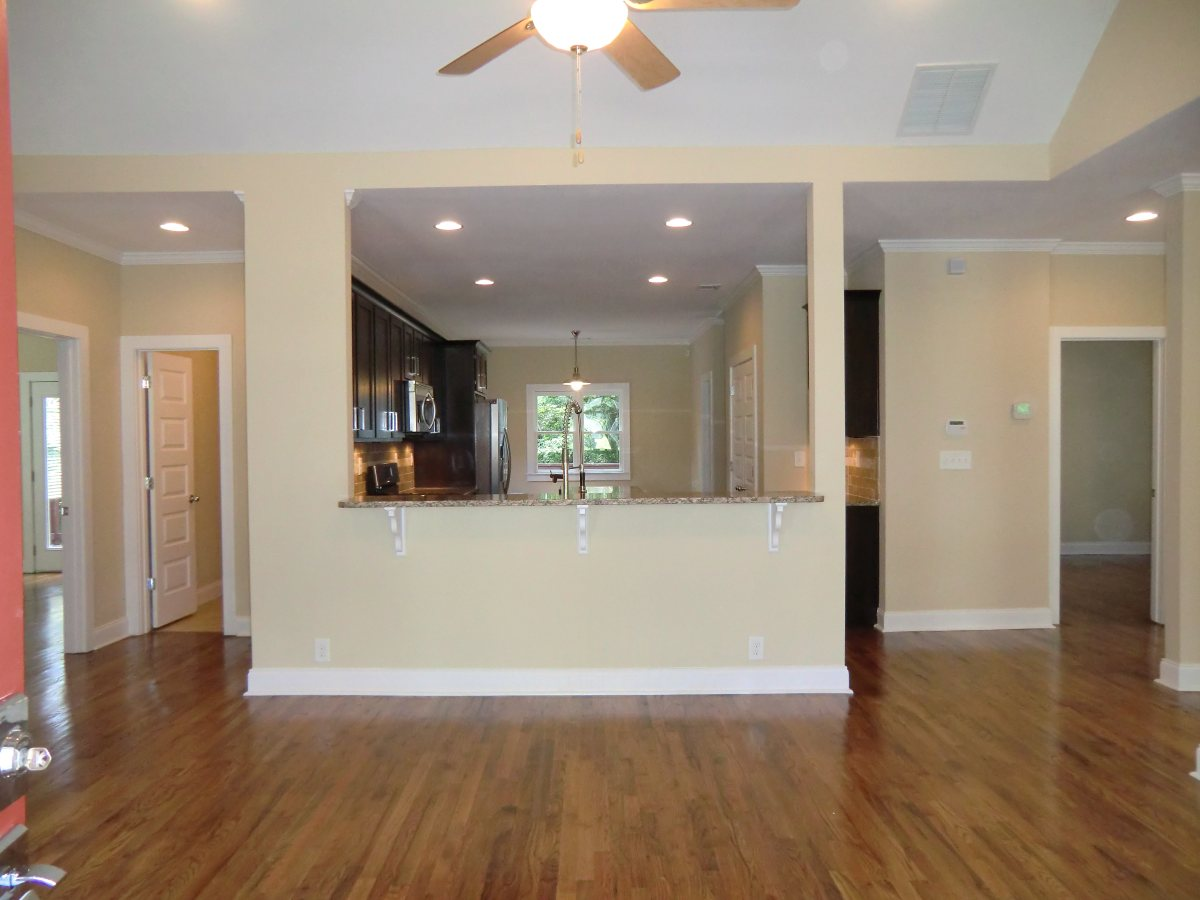 View Into The Kitchen Brand New Hardwoods Thru Out The