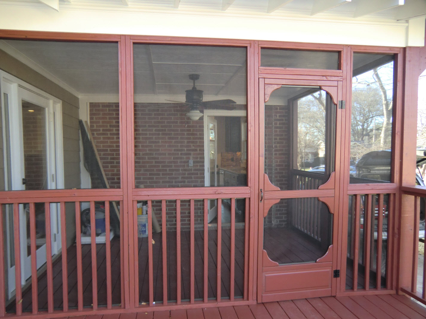 Screened Porch There Is Also An Open Deck Vision
