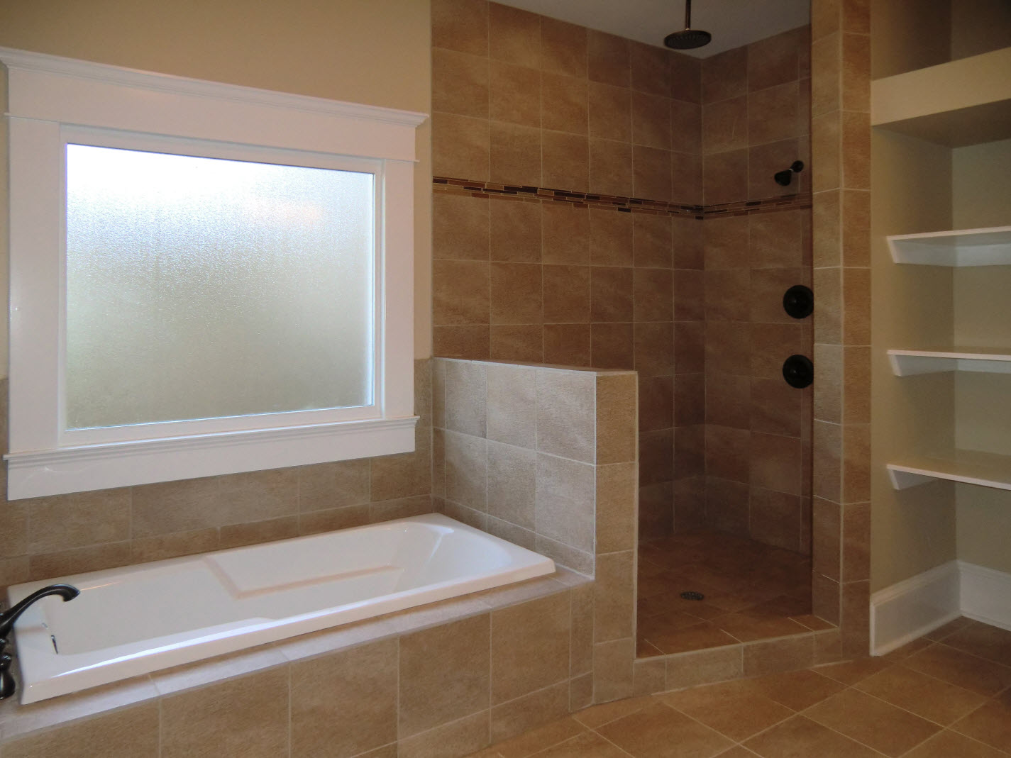 The Master Bath Features His N Hers Vanities A Private Toilet Room Soaking Tub And Oversized Shower Of Course There S A Big Walk In Closet