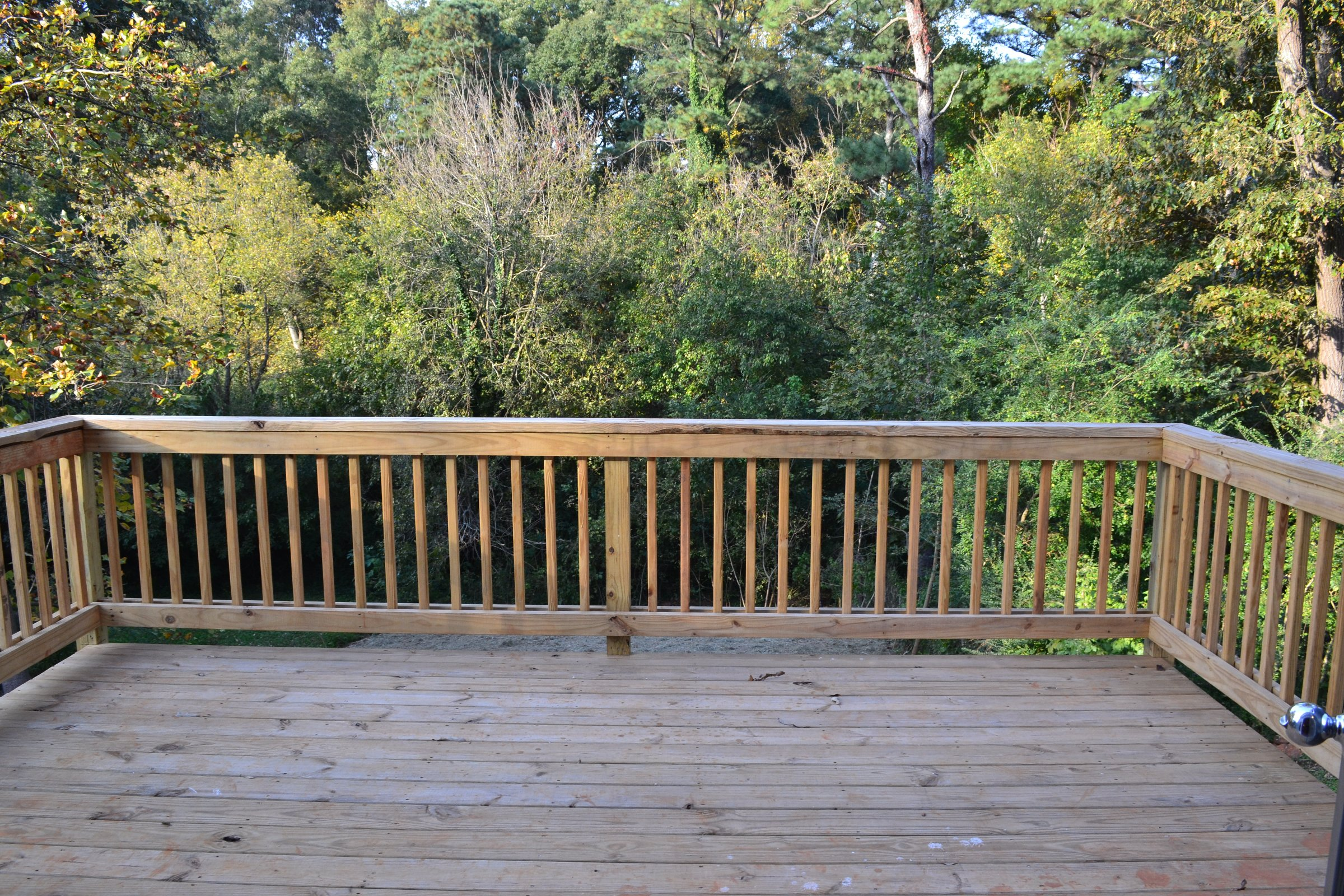 Big Party Deck With Stairs To Backyard